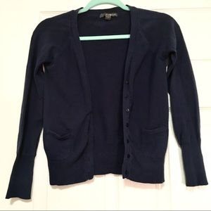 Forever 21 Navy Button Front Cardigan With Pockets